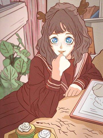 may may hello comics japanese comics Imagens de ilustração