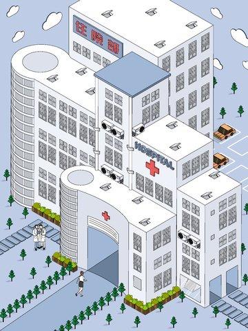 medical health illness hospital obraz ilustracja