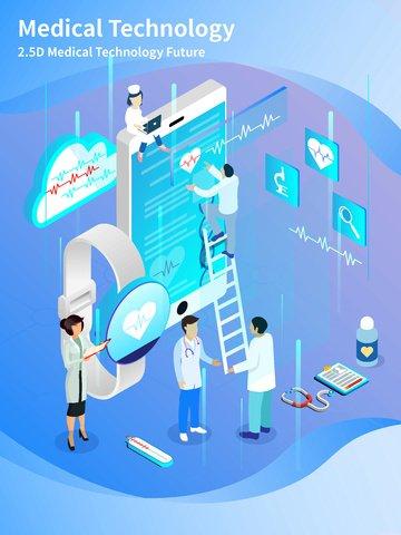 medical industry medical cellphone smartphone obraz ilustracja