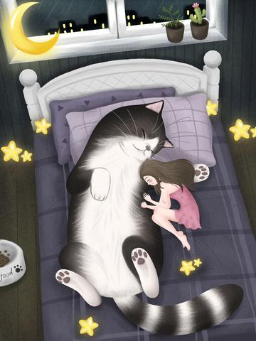 night night night world Material de ilustração