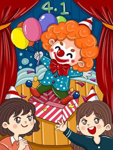 original april fool s day fools clown llustration image illustration image
