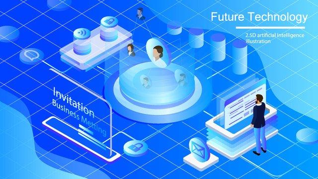original commercial illustration wallpaper poster artificial intelligence llustration image illustration image