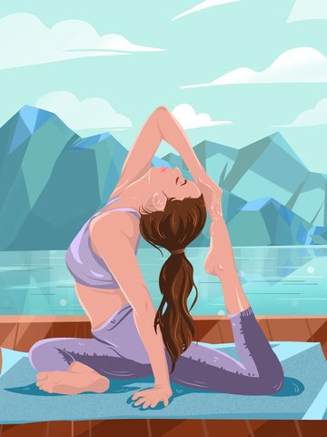 original commercial illustration wallpaper poster spring fitness llustration image