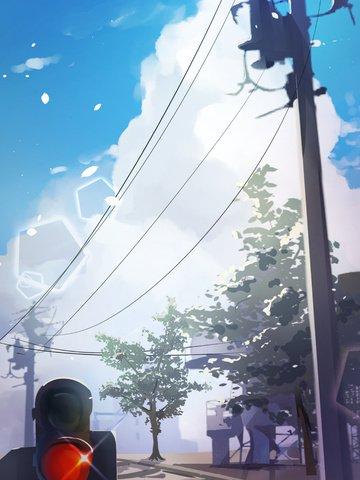 original illustration japanese scene Ресурсы иллюстрации