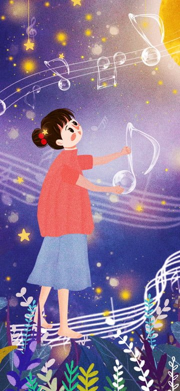 original illustration world childrens song day Ресурсы иллюстрации