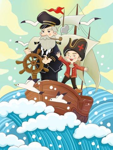 original international nautical day nautical cartoon Ресурсы иллюстрации Иллюстрация изображения