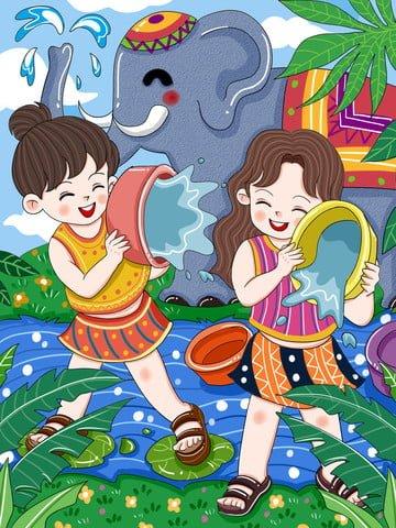 original songkran festival dai songkran festival dai Ресурсы иллюстрации Иллюстрация изображения