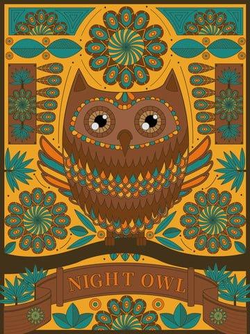 owl meticulous painting sketch coloring Material de ilustração Imagens de ilustração