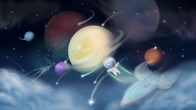 planet starry sky meteor beautiful Ресурсы иллюстрации Иллюстрация изображения