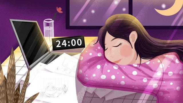 sleep overtime exhaustion world sleep day Ресурсы иллюстрации Иллюстрация изображения