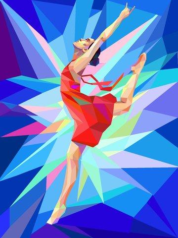 sport dance illustration trend Imagens de ilustração