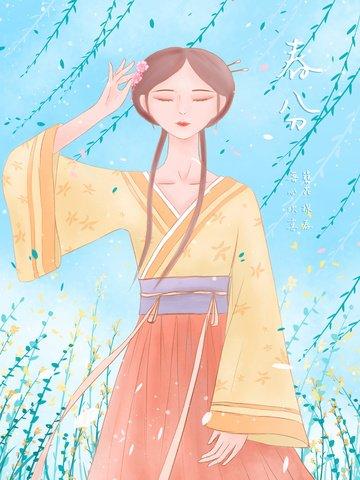 spring equinox spring flowers silk flowers Material de ilustração