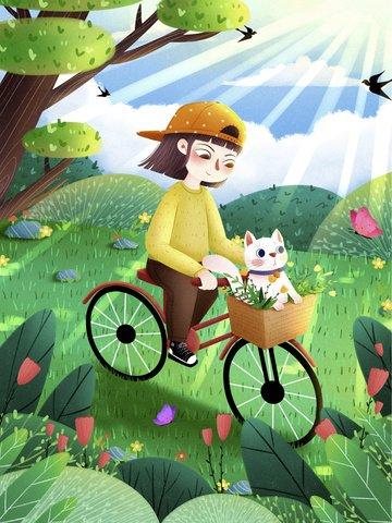 spring equinox spring twenty four solar terms hello spring Imagens de ilustração