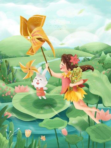 spring spring spring green Material de ilustração Imagens de ilustração