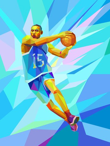 trend sport basketball slam dunk obraz llustration