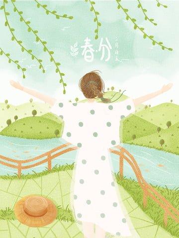 24祭り春分グリーン環境保護 イラスト素材