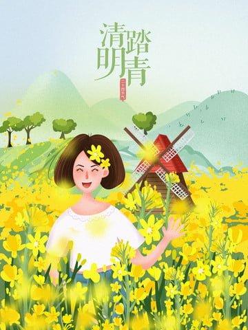 twenty four solar terms qingming qingqing spring tour Material de ilustração Imagens de ilustração