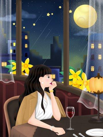 urban life single female Ресурсы иллюстрации Иллюстрация изображения