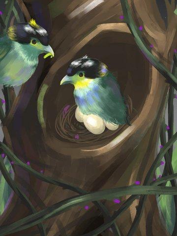 warm heart cute pet egg bird Ресурсы иллюстрации