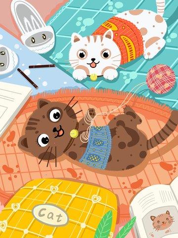 warm heart healing system cute pet kitten ภาพ