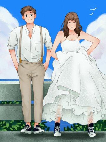 गर्म रोमांटिक शादी दृश्य चित्रण छवि चित्रण छवि