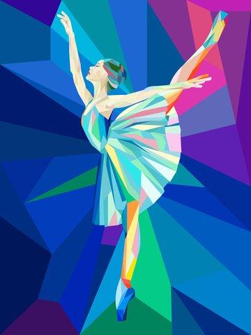 water chestnut gradually girl ballet Material de ilustração Imagens de ilustração