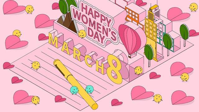 women s day 3d greeting card 2 5d vector illustration llustration image