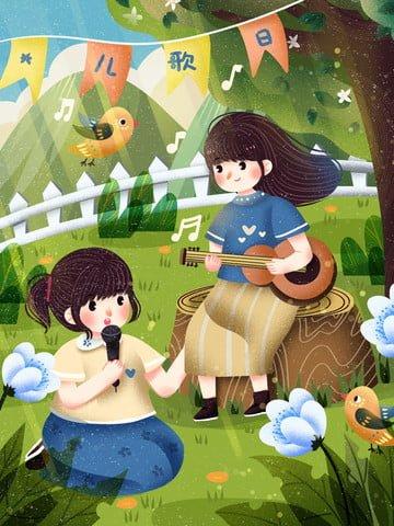 ngày thế giới thiếu nhi những bài hát thiếu nhi ca hát thiên nhiên Hình minh họa