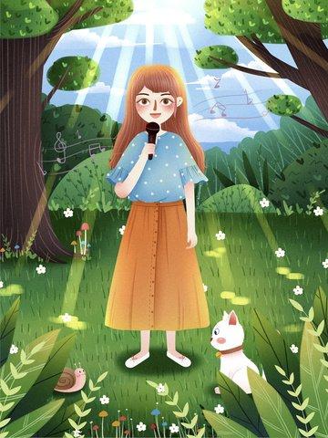 世界の子供の日 歌 子供 子供の日 イラスト素材 イラスト画像