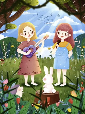 世界子供の歌の日 歌 子供 子供の日 イラスト画像