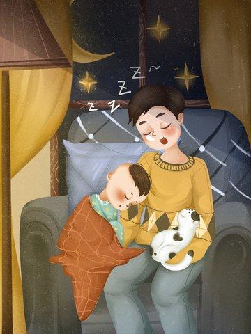 世界幸福日 男孩 嬰兒 可愛 插畫素材