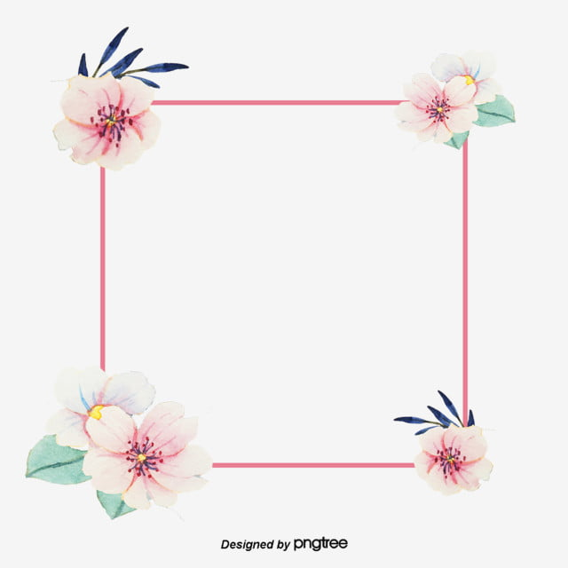 the frame rectangular flower color in jewelry the pink line the