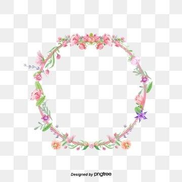 วงกลม ดอกไม้ สีชมพูอ่อน ดอก เล็กๆ สีเขียวสีม่วงวงกลม  ดอกไม้  สีชมพูอ่อน PNG และ PSD