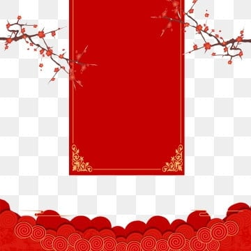 Traditional Red Festival Chinese New Year Elements illustration image