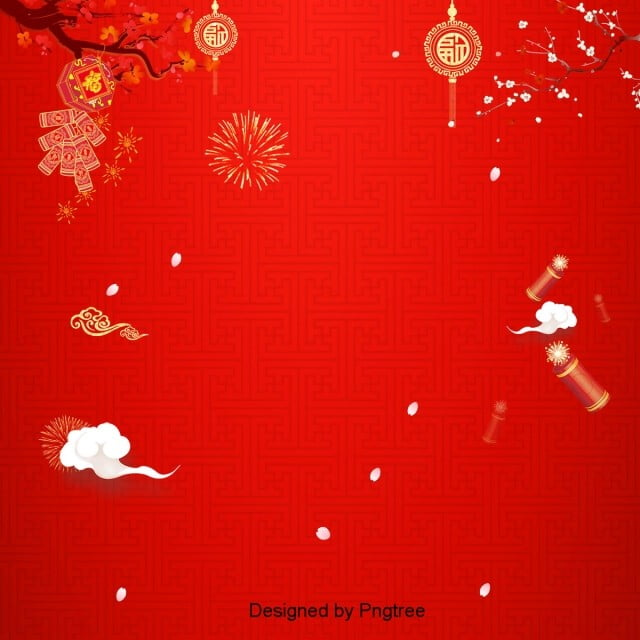Red Xiangyun Retro Ancient Chinese New Year Background Chinese New