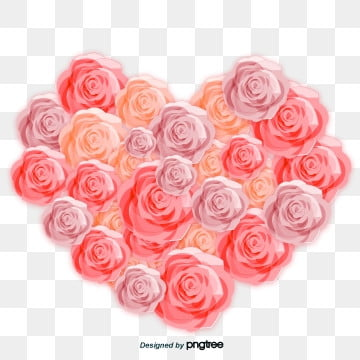 pink valentines day rose elements, Flower, Romantic, Valentines Day PNG and PSD