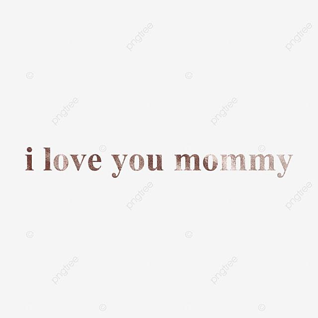 Feuille Dor Je Taime Maman Texte Modèle Texture