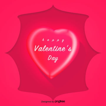 romantic red valentines day heart elements, Valentines Day, Red, Pink PNG and PSD