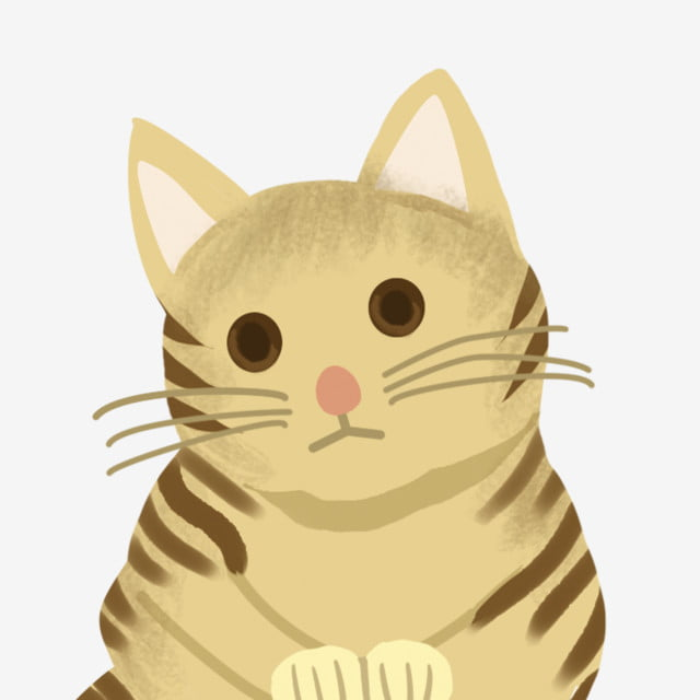 Anime Cartoon Hand Painted Cute Cat Pet Cat Kitten Wildcat Png Transparent Clipart Image And Psd File For Free Download