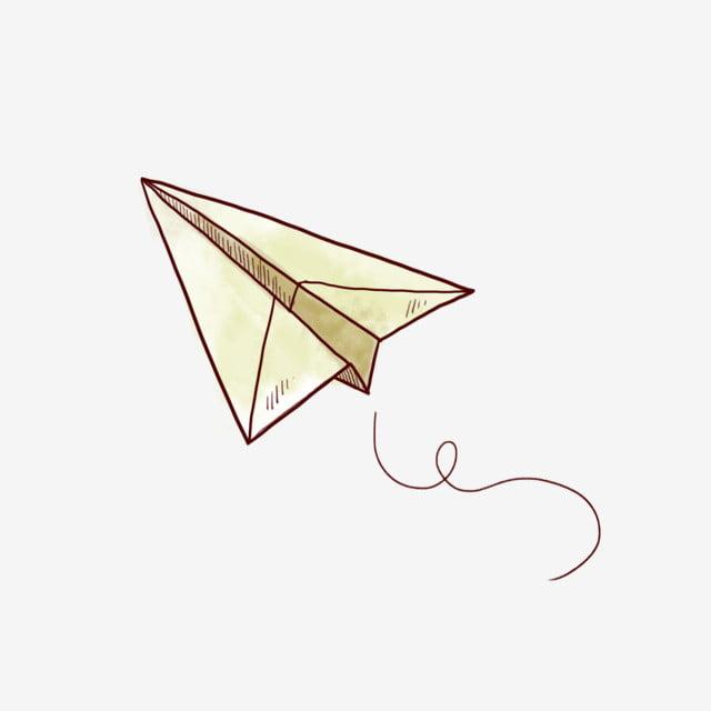 aircraft paper plane cartoon airplane origami  hand drawn