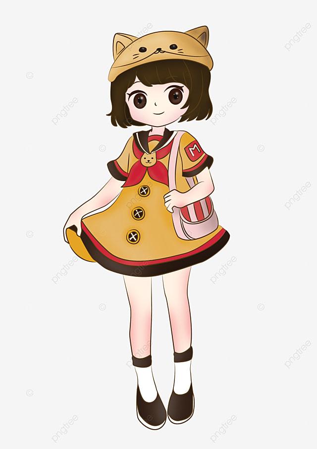Fille De Kawaii De Dessin Animé Dessin Animé Anime Mignon