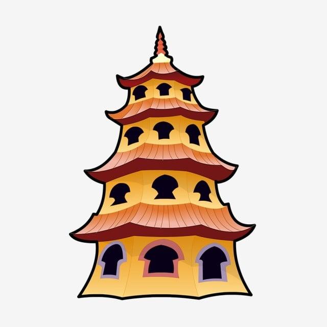 カートゥーンタワータワータワータワー中国中国人建物建築 漫画ビル 漫画