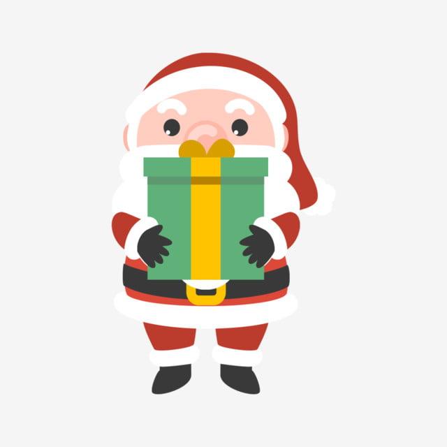 Kartun Santa Natal Orang Tua Cute Santa Bermain Dengan Bola Berwarna