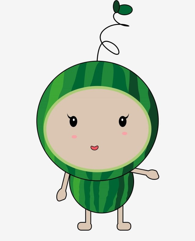 Cartoon Watermelon Summer Food Watermelon Summer, Summer ...