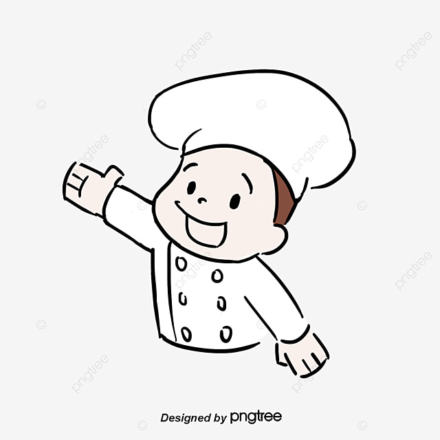 Chef Stirring A Large Pot Clipart Image