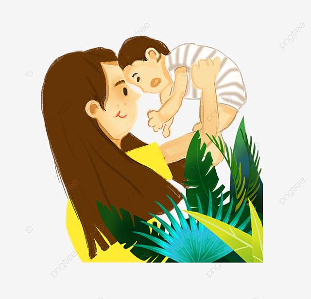 399730511 الأم والطفل لطيف أمي ابن طفل صغير رسمت أم تحمل طفلها الأم والطفل ...