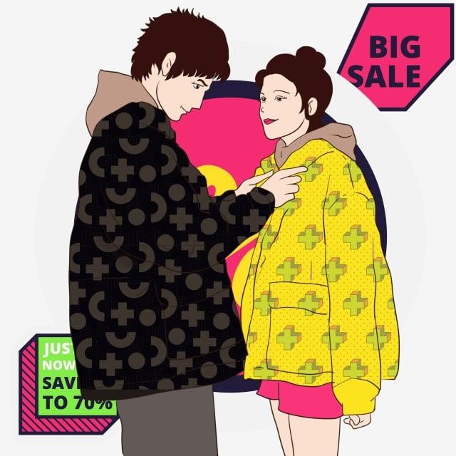 ファッション冬のドレスモデルカップル漫画イラスト ファッションカップル 素敵なカップル カップルショー 素敵なカップル 韓国風カップルイラスト 店内ポスター画像とpsd素材ファイルの無料ダウンロード Pngtree
