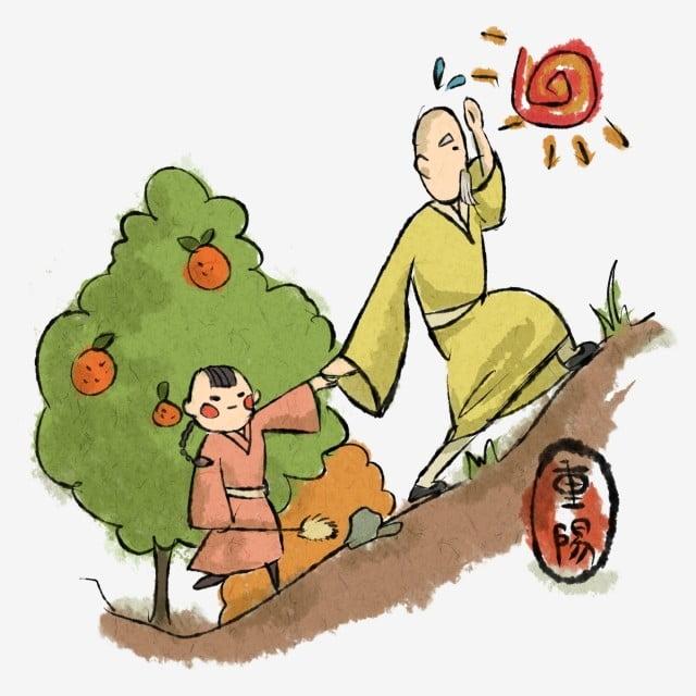 Gambar Bakti Bakti Orang Tua Pastry Menjaga Orang Tua Kartun Gaya Cina Chongyang Festival Rasa Hormat Lama Dan Menghormati Lama Mendaki Gunung Memetik Bunga Kekwa Kartun Tema Illustratio Png Dan Psd Untuk