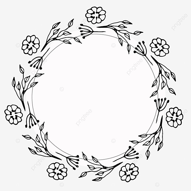 Frame Line Drawing Border Plant Flower Border Beautiful Line Drawing