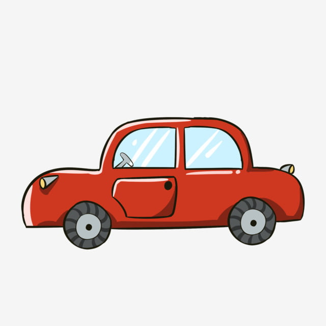 Hand Painted Cartoon Red Car Kids Toys Toy Car Car Png